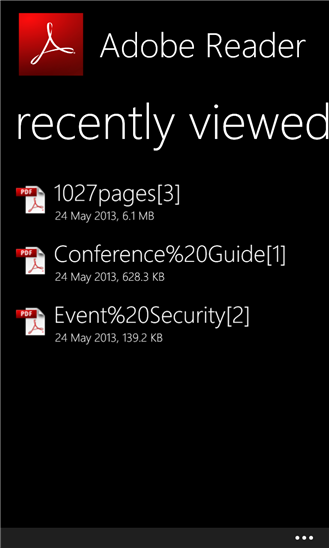 wp8-adobe-acrobat-reader-files-list
