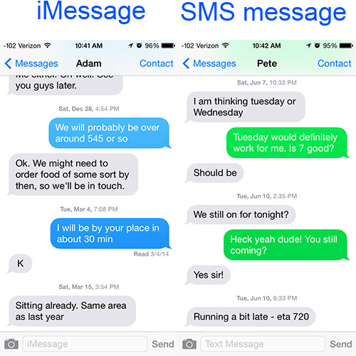 difference-text-message-imessage-ios-7