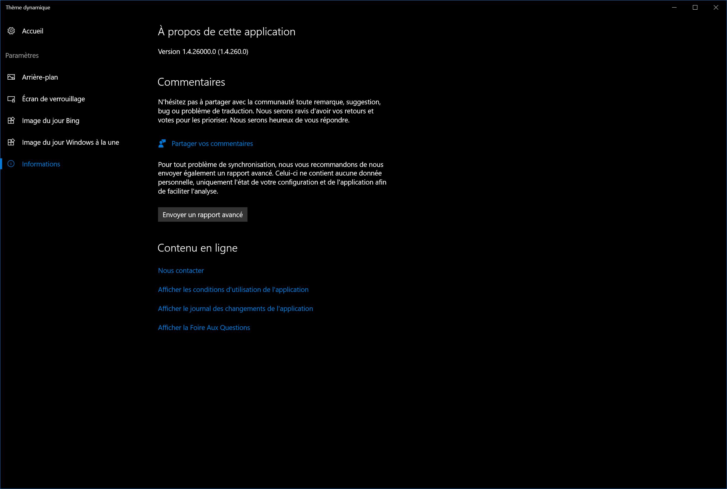 b07c4ea681 Thème dynamique Preview   build 1.3.26000 disponible ! - Pinnula