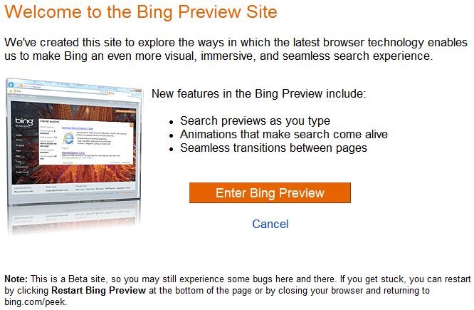 bing-html5-preview-website