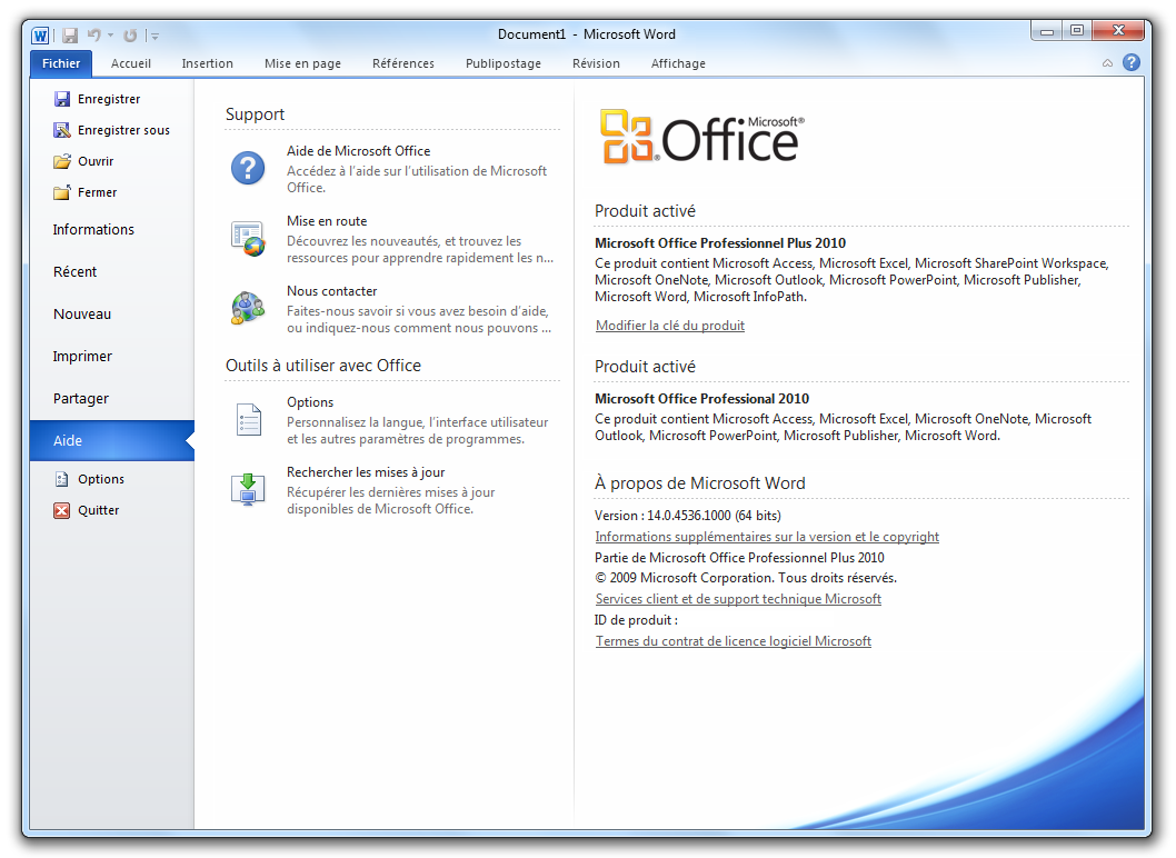Le d veloppement d 39 office 2010 est officiellement termin pinnula - Office professionnel 2010 ...