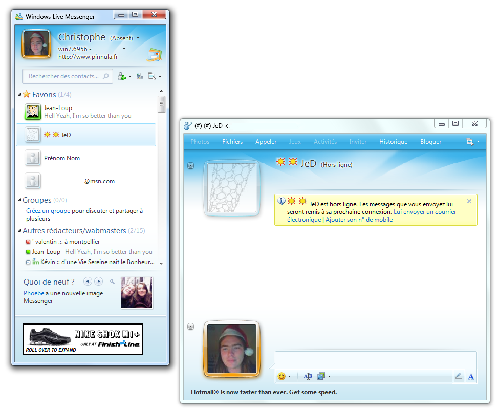 Versiones de Windows Live Messenger 2009 Windows Live Messenger